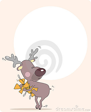 Reindeer stealing candies