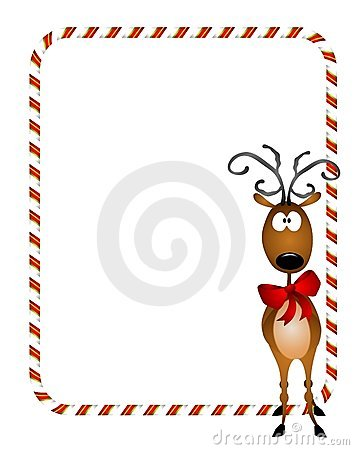 Free Reindeer Xmas Border Royalty Free Stock Photography - 6776097