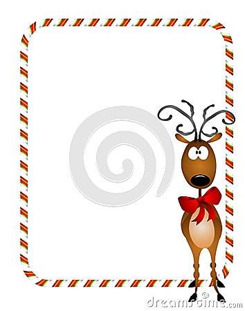 Reindeer Xmas Border