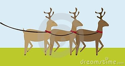 Reindeers cartoon