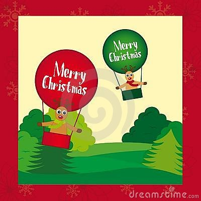 Reindeers christmas