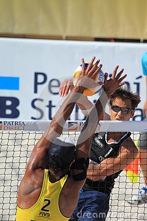 Reinder Nummerdor - beach volleybal Editorial Stock Image