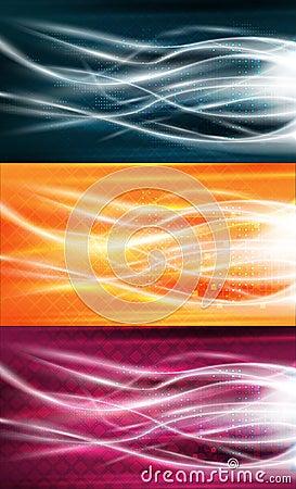 Reines Energiefluss-Hintergrundset