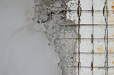 Reinforced concrete walls within the styrofoam