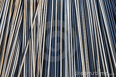 The reinforcing steel bars
