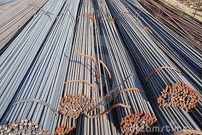 The reinforcing stell rod pile