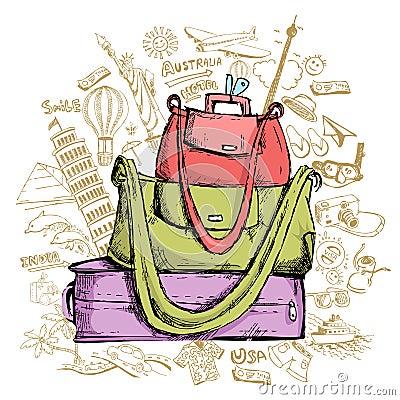 Reise Doddle mit Gepäck