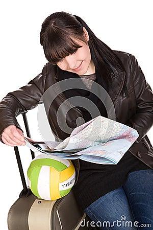 Reisende Frau