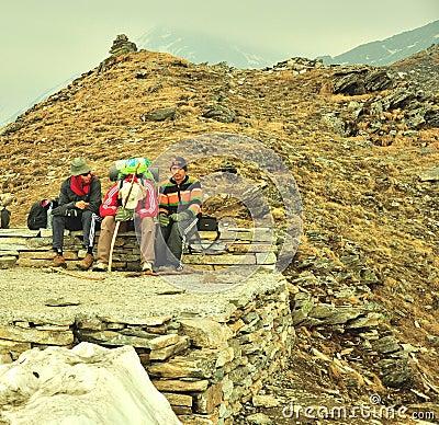 Reizigers het rusten Redactionele Foto