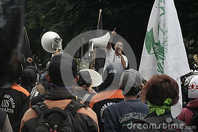 Reject Protest Police Detachment 88 Anti Terror In Chester Indonesia Editorial Stock Image