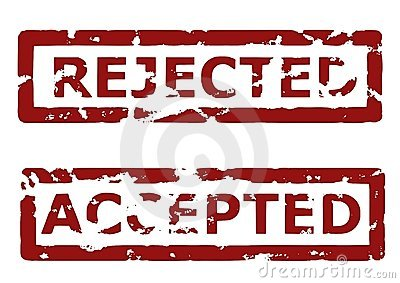 Rejected and accepted