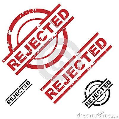 Rejected grunge stamp set