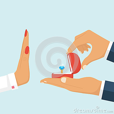 Free Rejecting A Marriage Proposal. Stock Photography - 89928842