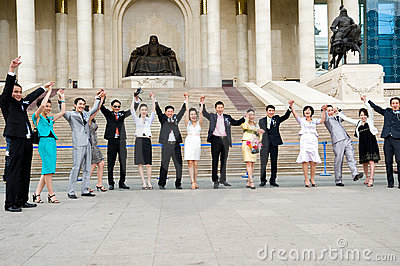 Rejoicing graduates Editorial Stock Photo