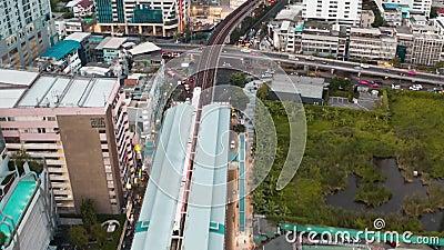 Rejony powietrzne okręgów Siam i Rachathewi, górny bar, w Bangkoku, Tajlandia zbiory