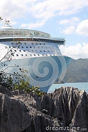 Rejsu oazy morzy statek Zdjęcie Stock Editorial