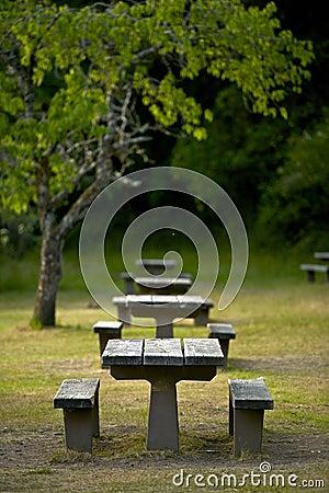 Rekreacyjne miejsce ławki