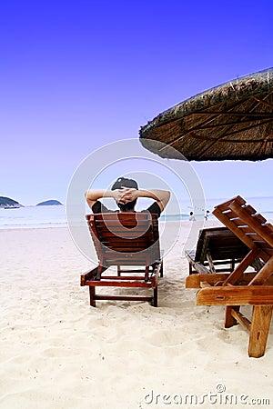 Relájese en la playa