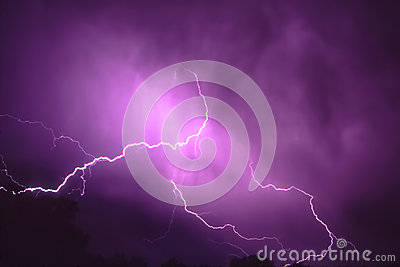 Relâmpago do temporal em Illinois