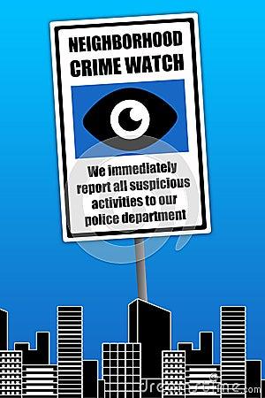 Relógio do crime da vizinhança