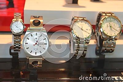 Relógios de pulso Tissot Fotografia Editorial