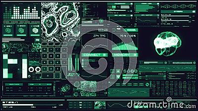 Relação futurista azul fria/Digitas screen/HUD video estoque