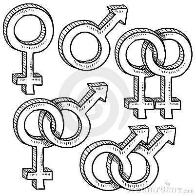 and gender symbols are also used as gay acceptance symbol