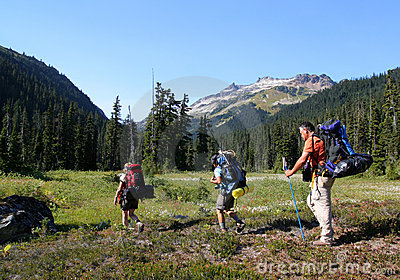 Relatives Hiking in Callaghan Valley