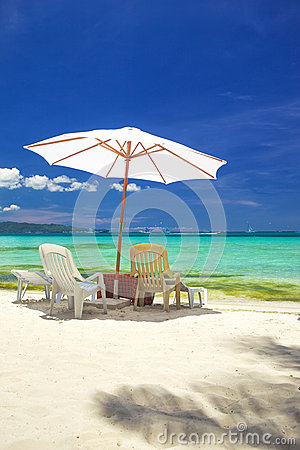 Relax area on beach