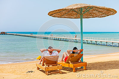 Relax on the beach at Red Sea