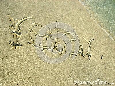 Relax on the beach sand