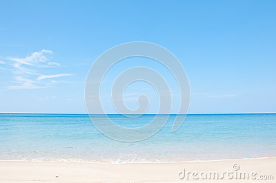 Relax on the beach and tropical sea