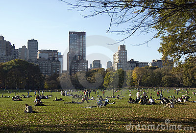 Relax in Central Park Editorial Stock Photo