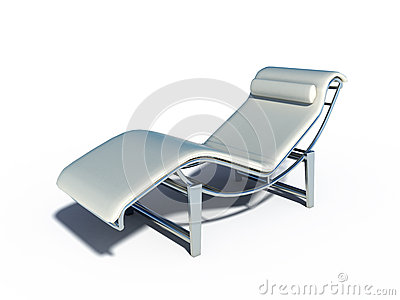 Relax chair white leather