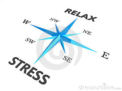 Relax stress and relax words on compass