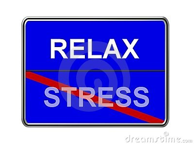 Relax and stress sign