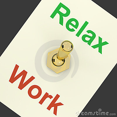Relax Switch On Showing Relaxing And Recreation