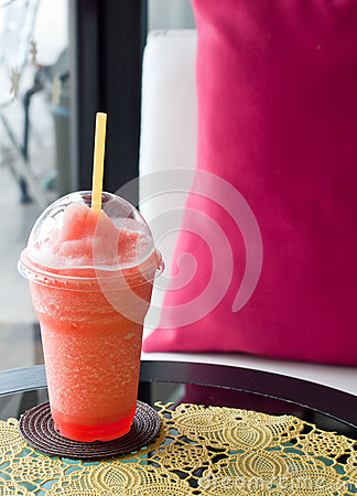 Relax time with refreshing strawberries smoothie