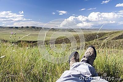 Relaxamento na natureza