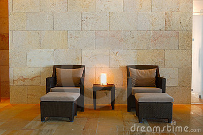 Relaxation chairs at modern SPA