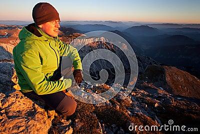 Relaxation dans les montagnes
