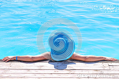 Relaxation on holidays at the pool