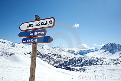 Relaxation in Les Arcs. France