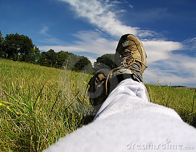 Relaxation on the meadow