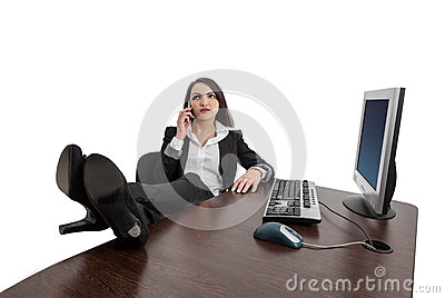 Relaxed Businesswoman on the Phone