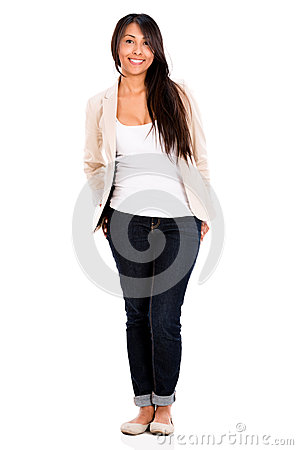 Relaxed casual woman