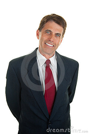 Relaxed Friendly Businessman Royalty Free Stock Photos - Image: 20995808