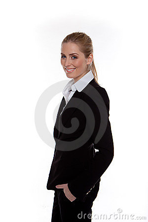 Relaxed Happy Businesswoman