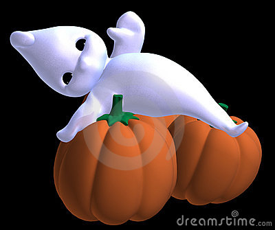 Relaxed little halloween ghost