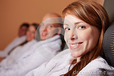 Relaxed woman smiling in health